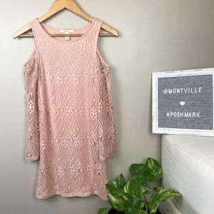 Cold Shoulder Lace Overlay Size Small Mini Dress